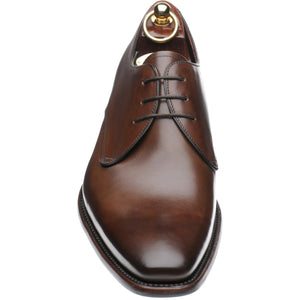 LOAKE Bressler Plain Tie shoe - Dark Brown Calf - Front View