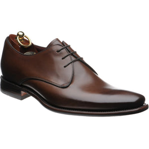LOAKE Bressler Plain Tie shoe - Dark Brown Calf - Angle View