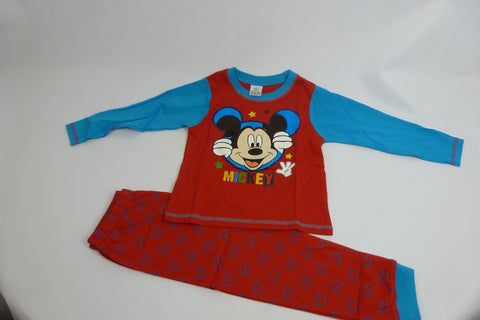 Children's Wear - Mickey Mouse Boy's Pyjama Set - Red/Blue