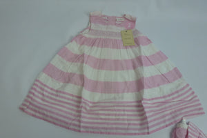 Next Baby dress   - Pink Striped - Ninostyle