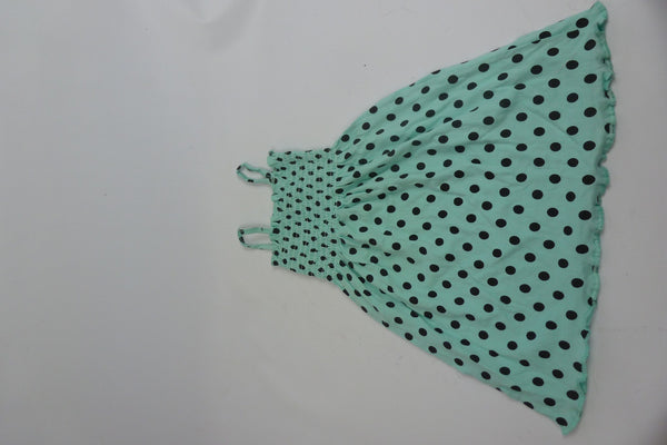 Children's Wear - PINQUETTE - Girl's Dress - Spotted Green