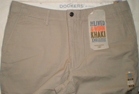 Chinos - Men - Dockers Straight-Fit D2 Chino Trouser - Light Khaki