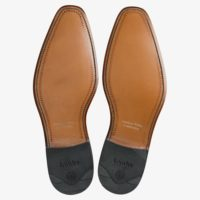 LOAKE Hannibal Derby Brogue shoe - Black Calf - Sole