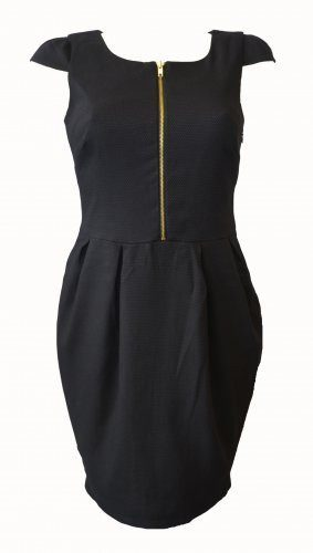 Dress - Ladies - B|ack Zip Front Jersey Peplum Dress - Dorothy Perkins