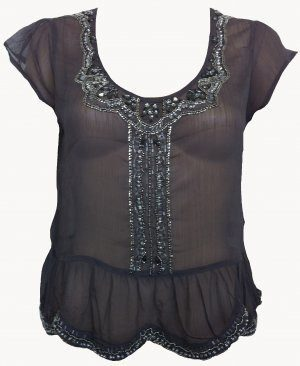 Dress - Ladies - Embellished Sequins & Beads Top