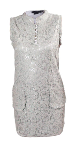 Dress - Ladies - Grey Lace Pocket Short Dress - Vertigo