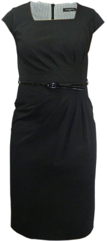 Dress - Ladies - Ladies Black Armless Dress With Belt -