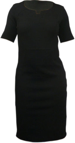 Dress - Ladies - Ladies Black Short Sleeved Dress - Collection London