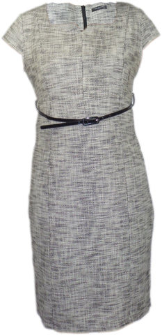 Dress - Ladies - Ladies Grey Woven Short Sleeved Dress - Collection London