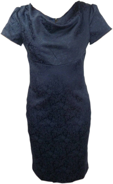 Dress - Ladies - Ladies Patterened Blue Dress - Unbranded