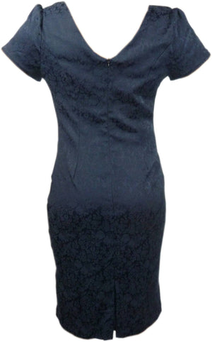 Ladies Patterened Blue Dress - Unbranded - Ninostyle