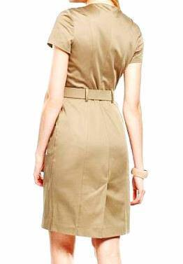 Dress - Ladies - Safari Khaki Dress - Autograph (M&S)