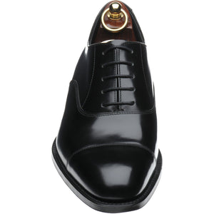 LOAKE Elgin Oxford shoe - Black Polished - Front/ Top View