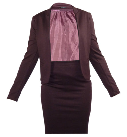 Jacket - Women - Ladies Skirt/Suit Wine - Unbranded