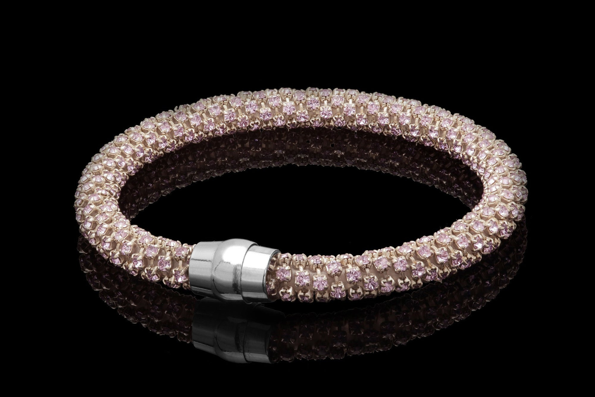 White Gold Plated Sterling Silver bracelete with  STONE - Ninostyle