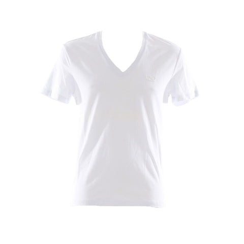 Jumper - ANTONY MORATO Plain V-Neck Tshirt 6 - White