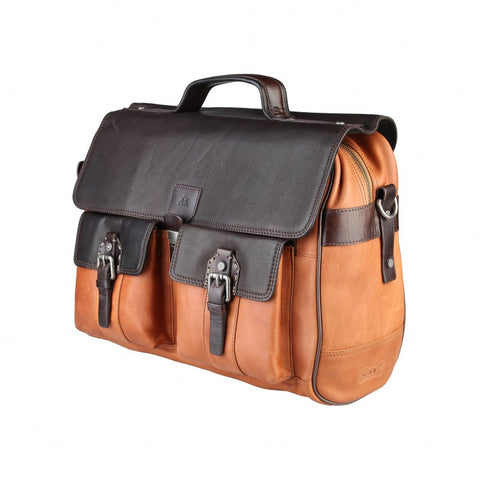 La Martina Roble Hombre Briefcase  2-tone brown 41 cm