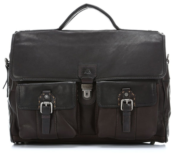 La Martina Roble Hombre Briefcase dark brown 41 cm