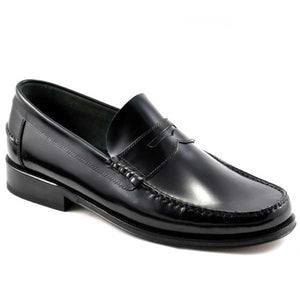 LOAKE Princeton Moccasin shoe - Black - Angle View