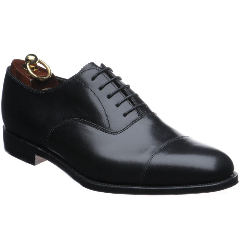 LOAKE Aldwych calf oxford shoe - Black -Angle View