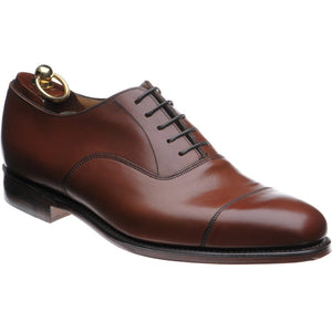 LOAKE Aldwych calf oxford shoe - Mahogany - Angle View