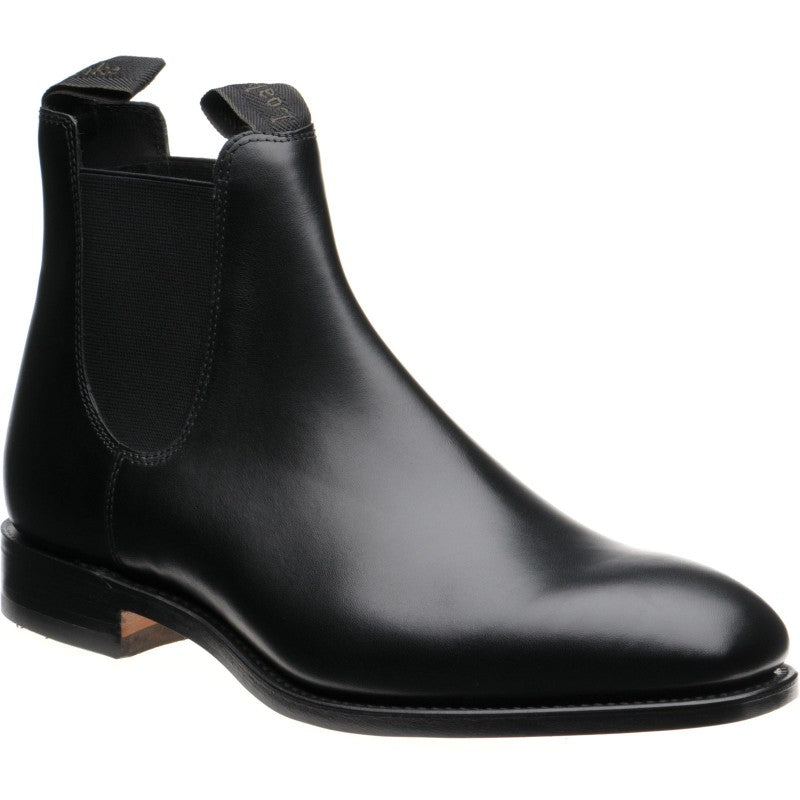 LOAKE- Apsley Premium Calf Boot - Black - Angle View