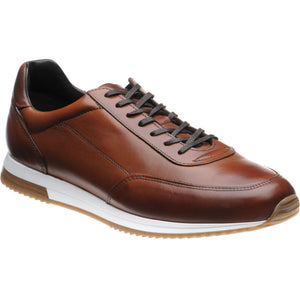 LOAKE Bannister - Leather Sneakers - Cedar- Angle View