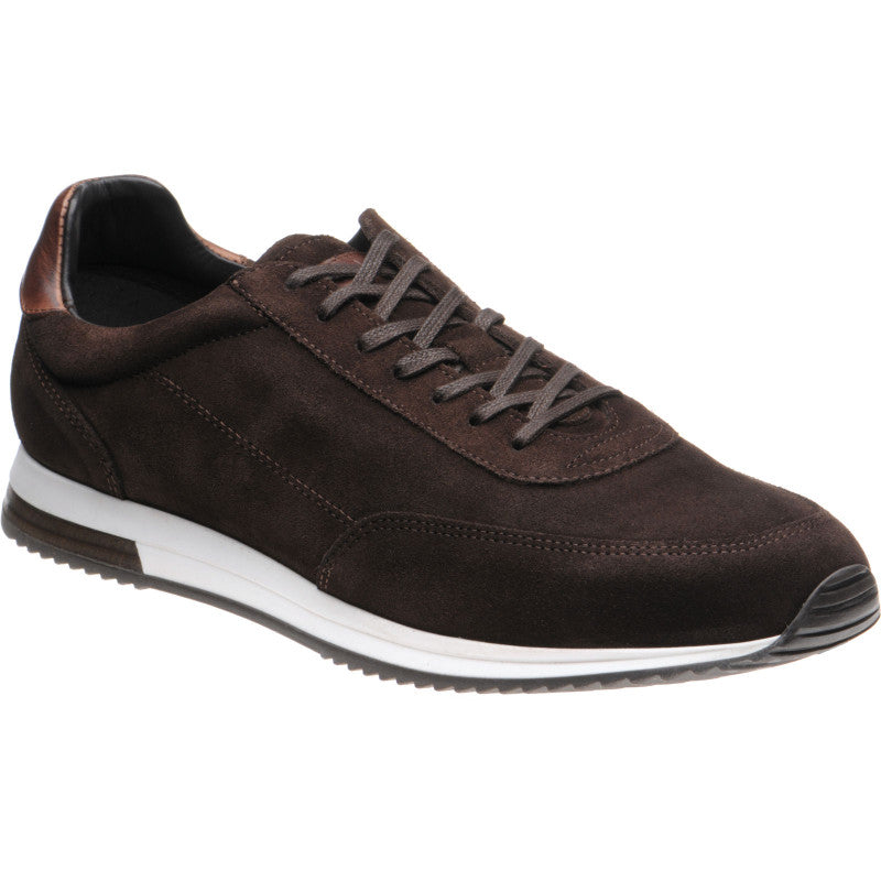 LOAKE  Bannister - Leather Sneakers - Dark Brown Suede
