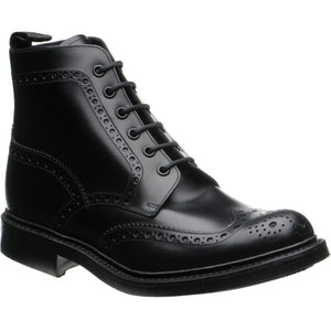 LOAKE Bedale Brogue Boot - Black Calf - Ninostyle