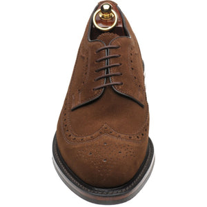 LOAKE - Birkdale Brogue Derby shoe - Brown Suede