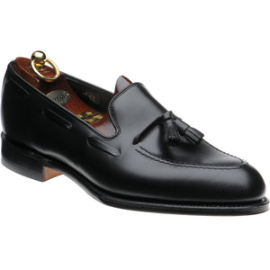 LOAKE - Russell Tasselled Loafers Calf Shoe - Black - Ninostyle
