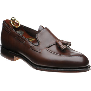 LOAKE - Russell Tasselled Loafers Calf Shoe - Dark Brown - Ninostyle