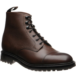LOAKE - Sedbergh Premium Calf Grain Boot - Dark Brown - Ninostyle