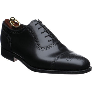 LOAKE Strand- Premium Semi Brogue shoes - BLACK - Ninostyle