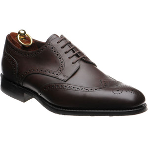 LOAKE Wembley Calf Premium Brogue shoe - Dark Brown - Ninostyle