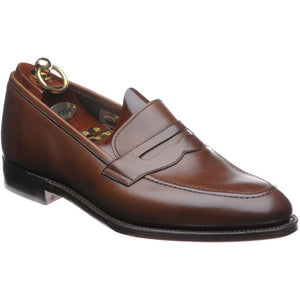 LOAKE - Whitehall Penny Loafers Shoe - Dark Brown - Ninostyle