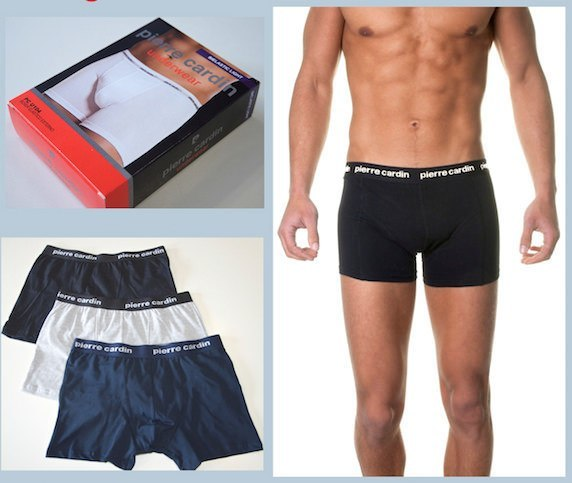 Men's Boxer Shorts - Pierre Cardin Boxer Shorts - Grey