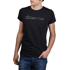 CALVIN KLEIN - fitted t-shirt - Blue - Ninostyle