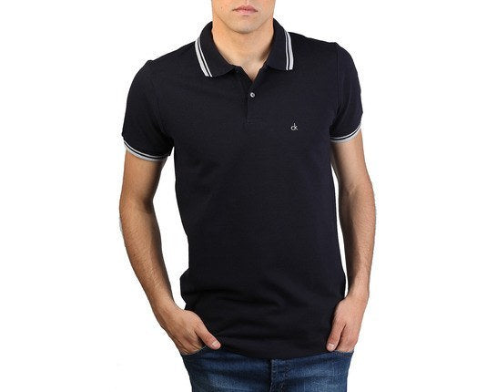 Men's Polo Shirt - CALVIN KLEIN - Polo Shirt -  Blue