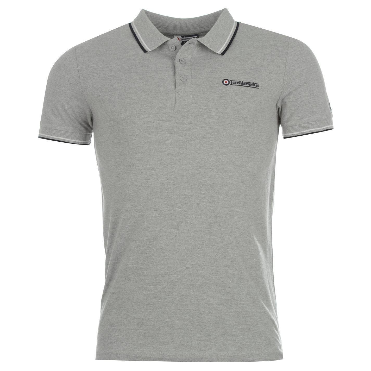 Lambretta Tip Polo Shirt for Men - Grey - Ninostyle