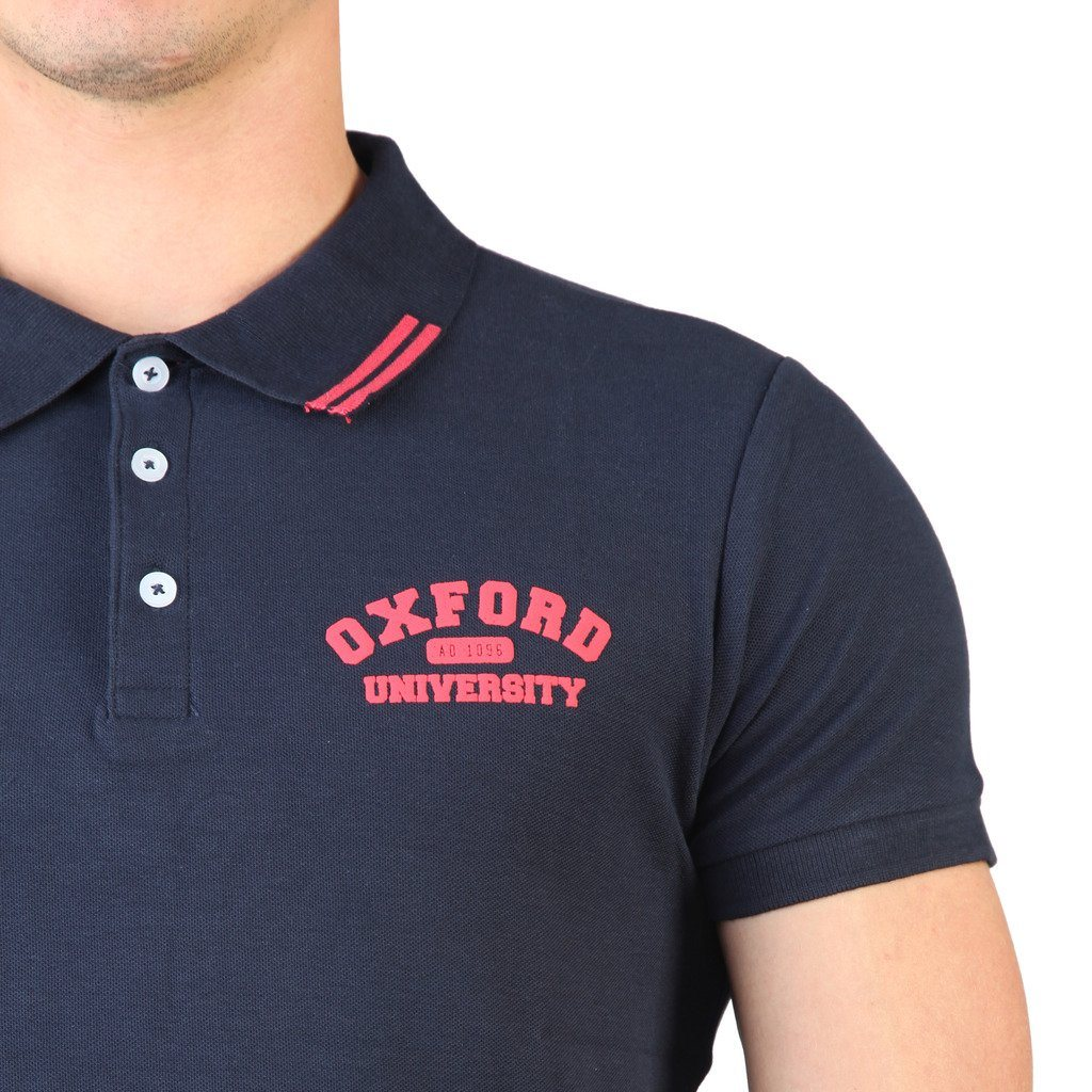 Oxford University Pique Polo - Navy - Ninostyle