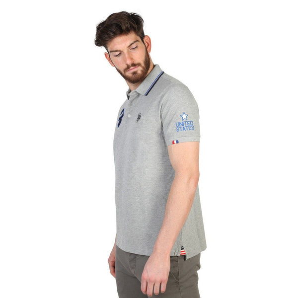 Men's Polo Shirt - US Polo Pique - Polo Shirt -  Grey