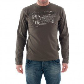 Men's T-Shirts - Catbalou - Long Sleved T-shirt - Brown