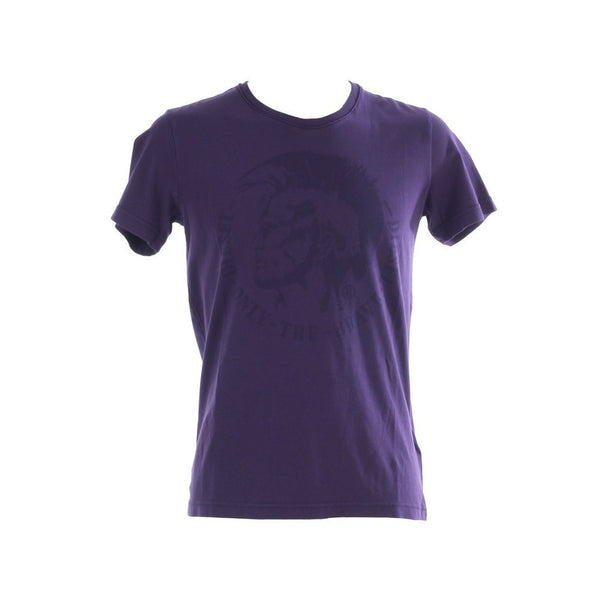 Men's T-Shirts - Diesle Mohichian Head Tshirt - Purple