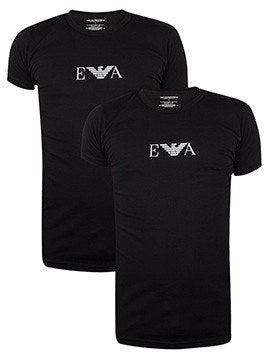 Men's T-Shirts - Emperio Armani 2-pack Black T-Shirt