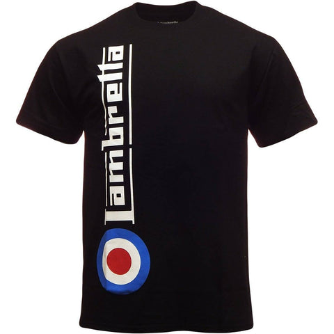 Men's T-Shirts - Lambretta Mens T Shirt 'Side Target' Design - Black