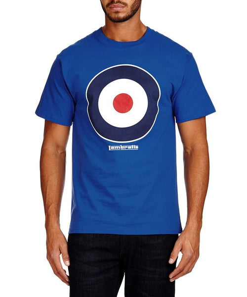 Men's T-Shirts - Lambretta Mens T Shirt Target Design - Royal Blue