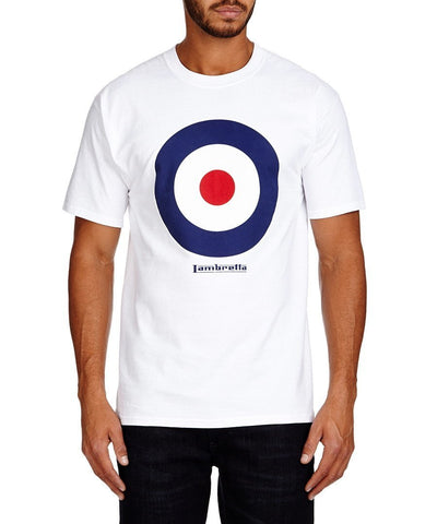 Men's T-Shirts - Lambretta Mens T Shirt Target Design - White