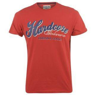 Men's T-Shirts - T-Shirt Mens - Hardcore Jeans Co Brush - Red