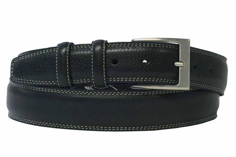 Mens Belt - Aspell Italian - GENUINE LEATHER BELT - BUTTERO MATERIAL - Black
